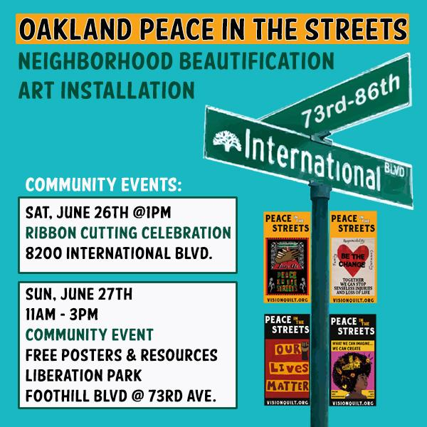 Peace In The Streets Banners – Ribbon Cutting Ceremony